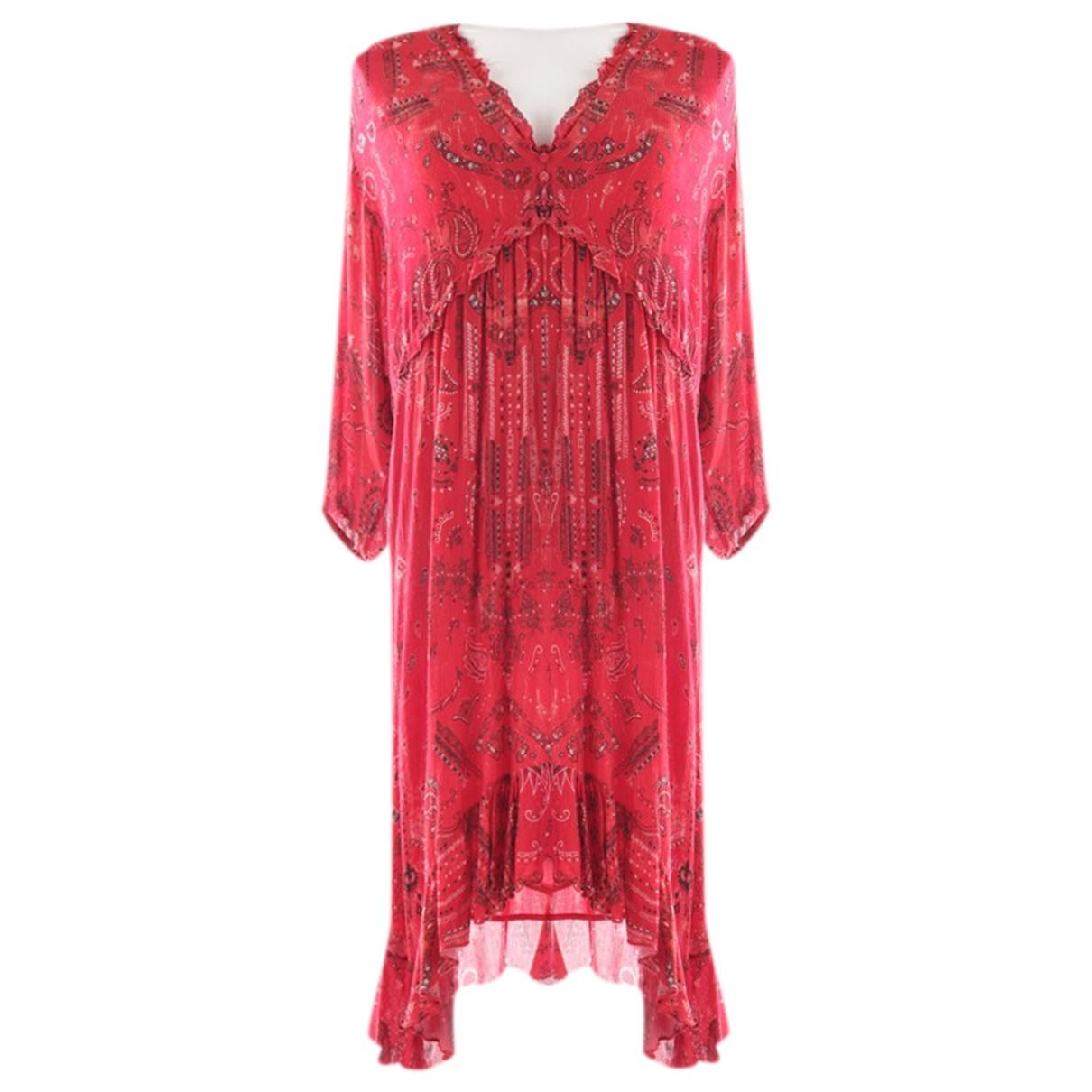 Iro \N Kleid in  Rot Viskose