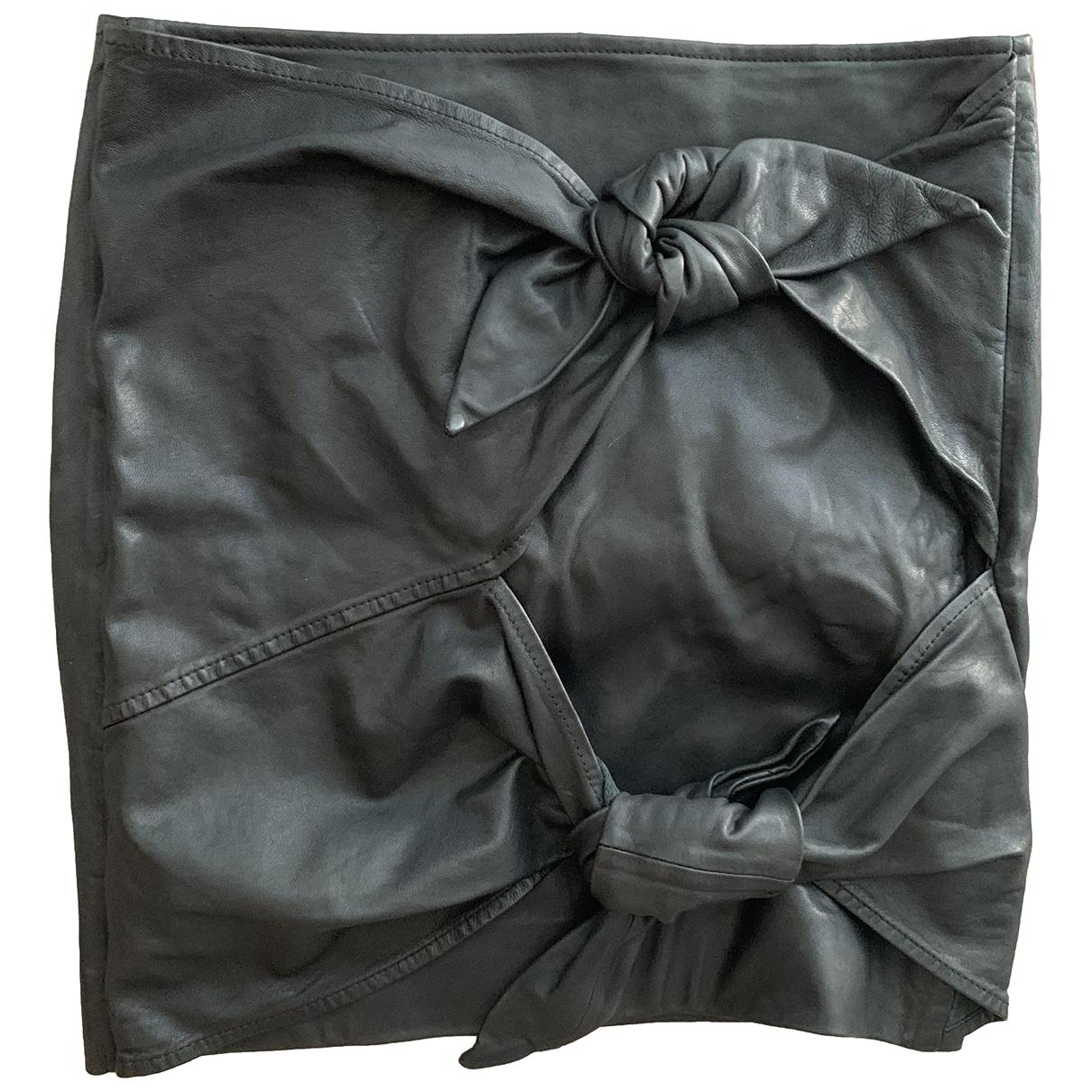 Isabel Marant Etoile \N Black Leather skirt for Women 34 FR