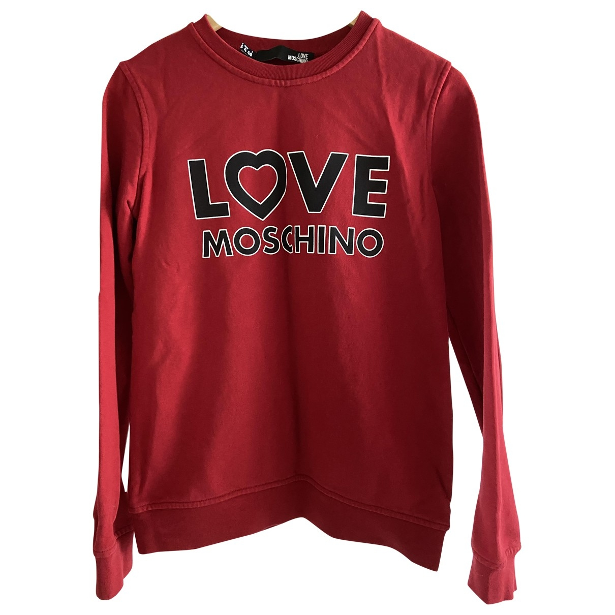 Moschino Love \N Pullover in  Rot Baumwolle