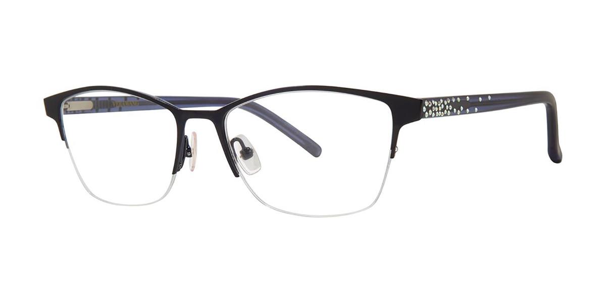 Vera Wang Belle Navy Men's Glasses Blue Size 49 - Free Lenses - HSA/FSA Insurance - Blue Light Block Available
