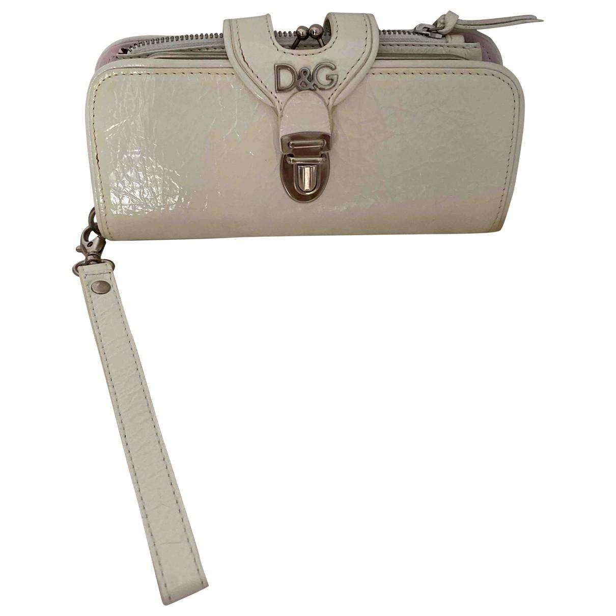 D&g - Portefeuille   pour femme en cuir verni - blanc