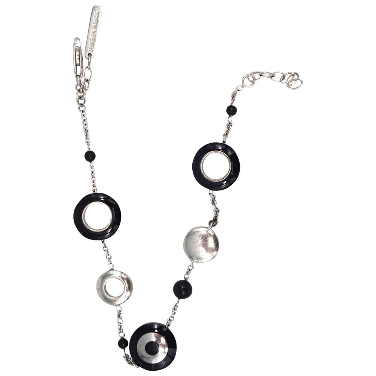 Emporio Armani \N Armband in  Schwarz Silber