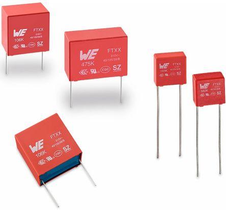 Wurth Elektronik 3.3μF Polypropylene Capacitor PP 310V ac ±10% Tolerance WCAP-FTXX Series (10)