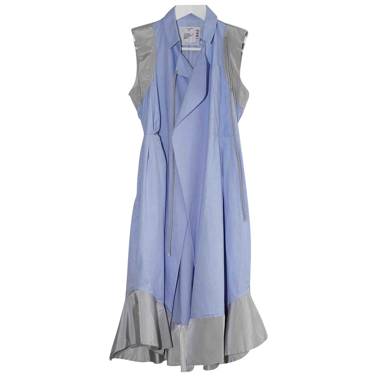Sacai - Robe   pour femme en coton - bleu