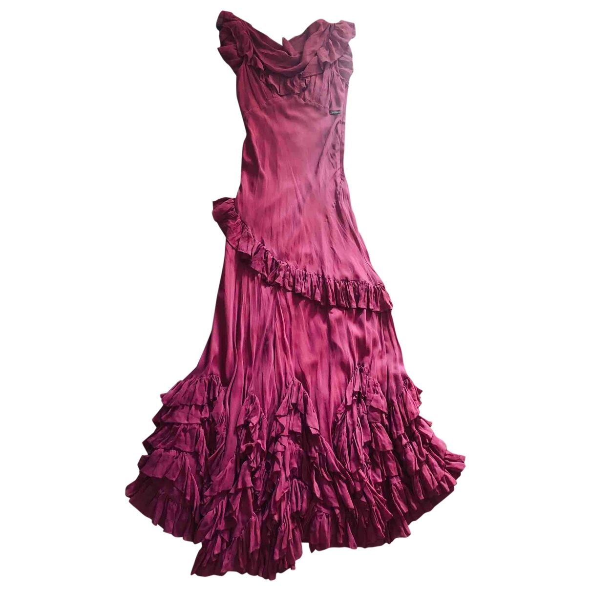 Galliano \N Kleid in  Rosa Seide
