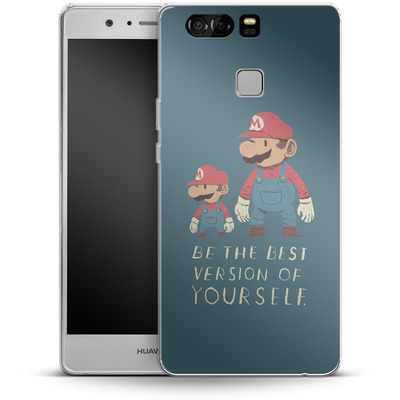 Huawei P9 Silikon Handyhuelle - Be The Best Version of Yourself von Louis Ros