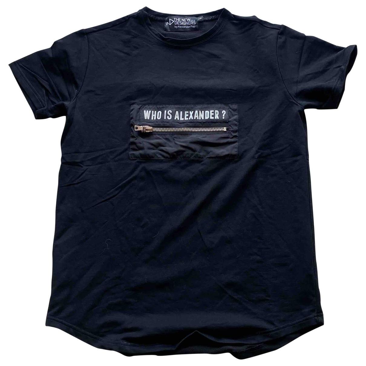 Non Signé / Unsigned \N Black Cotton T-shirts for Men L International