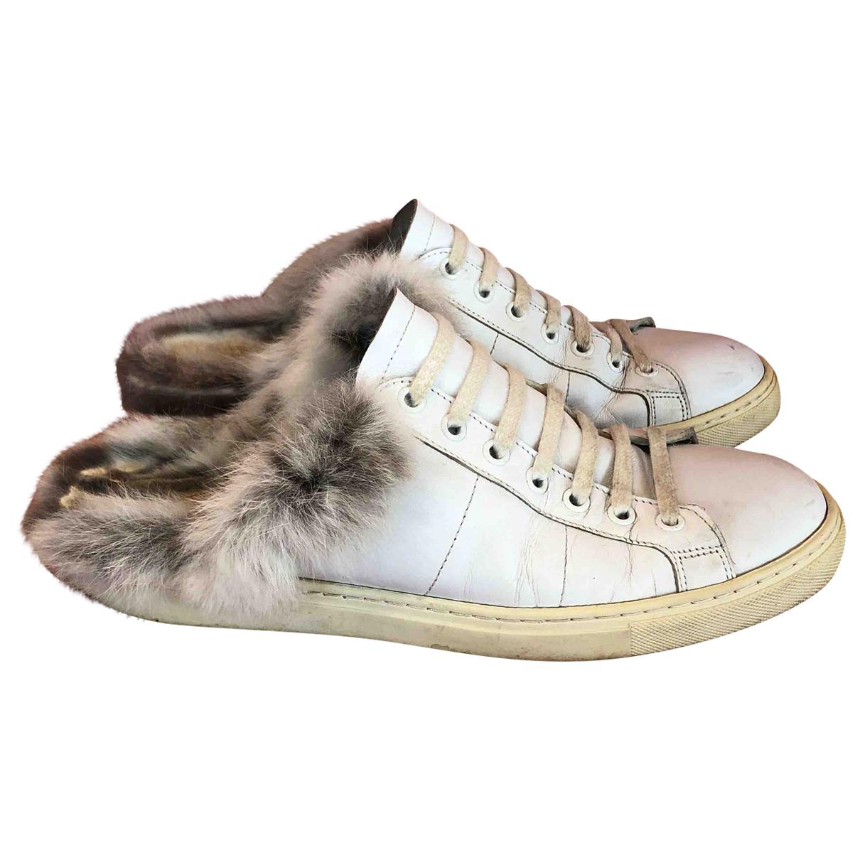 Iro Spring Summer 2019 Sneakers in  Weiss Leder