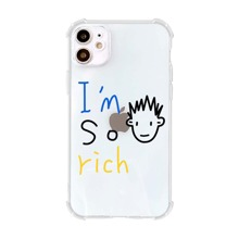 Letter Graphic Clear iPhone Case