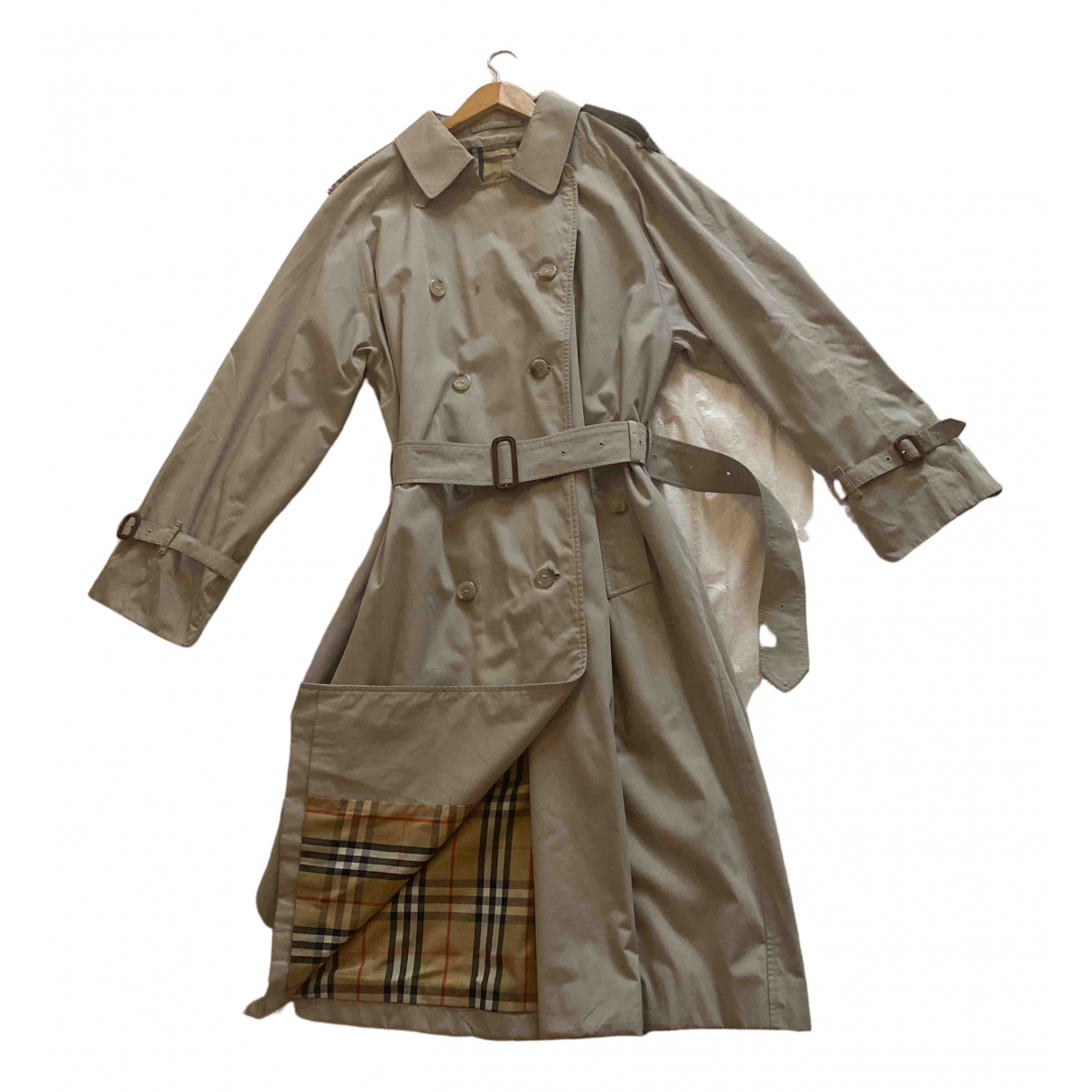 Burberry - Trench   pour femme - gris
