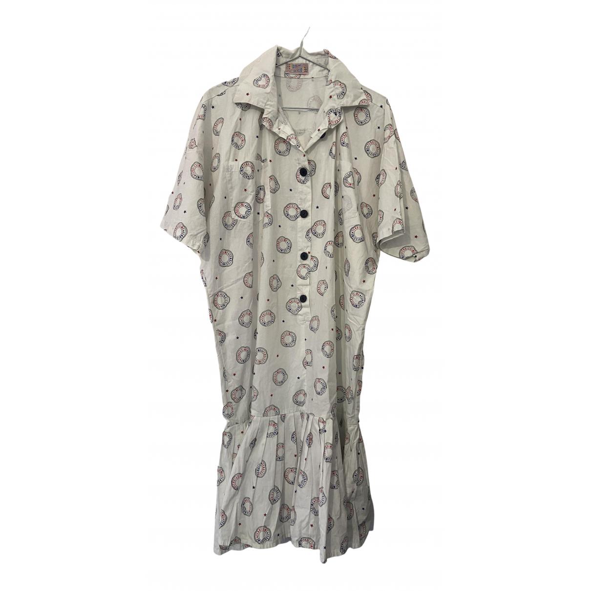 Fendissime \N Kleid in  Weiss Baumwolle