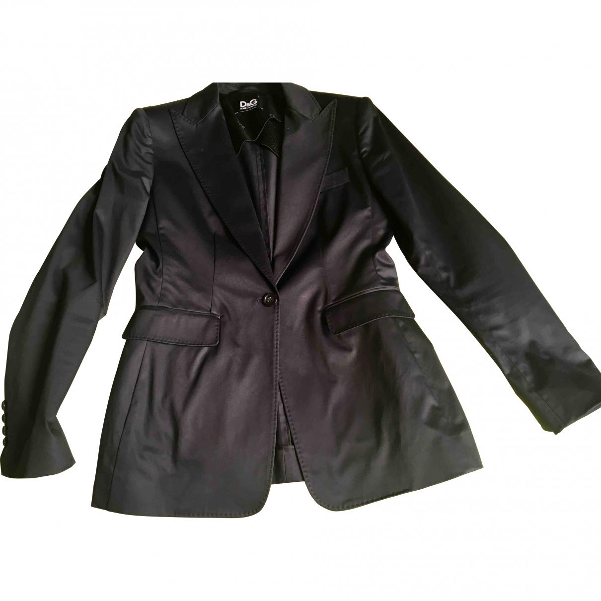D&g \N Blue Cotton jacket for Women 46 IT