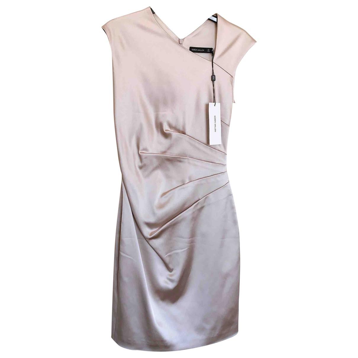 Karen Millen \N Kleid in  Beige Viskose
