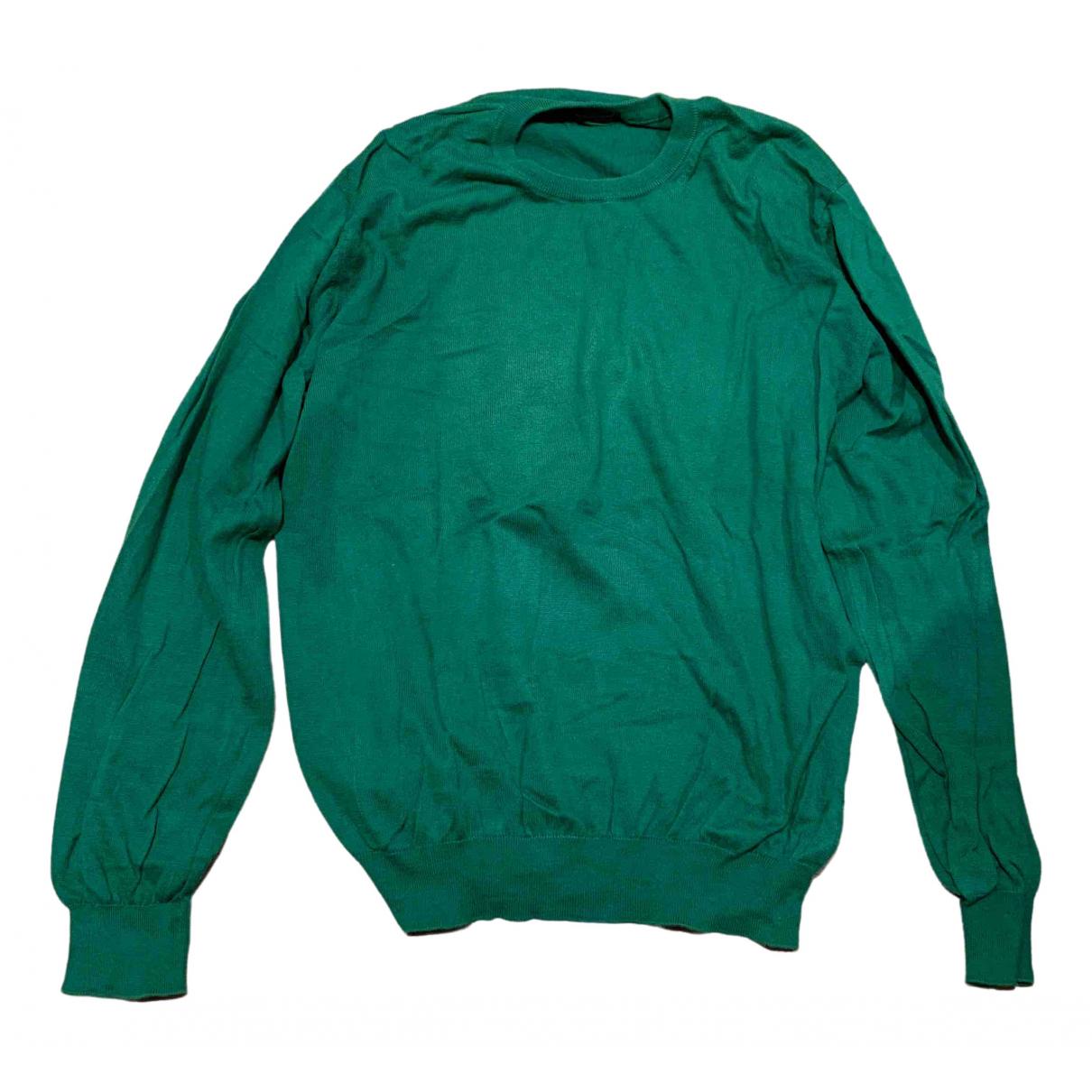 Ballantyne \N Pullover.Westen.Sweatshirts  in  Gruen Baumwolle