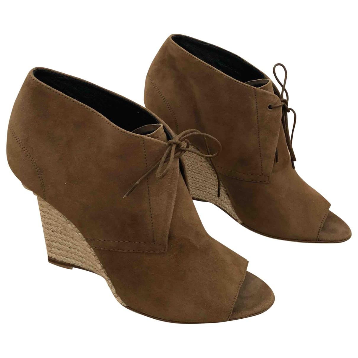Burberry - Boots   pour femme en suede - marron