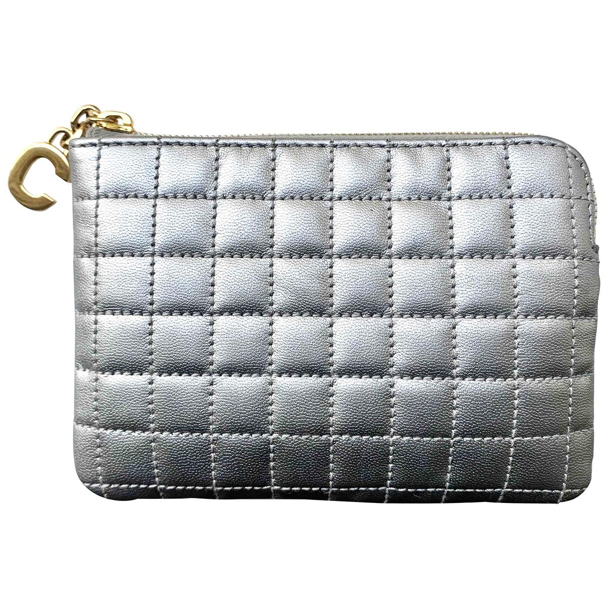 Celine \N Silver Leather Purses, wallet & cases for Women \N