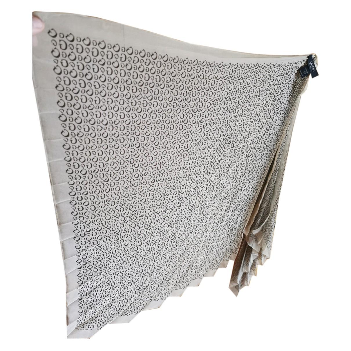 Guess - Foulard   pour femme en soie - beige