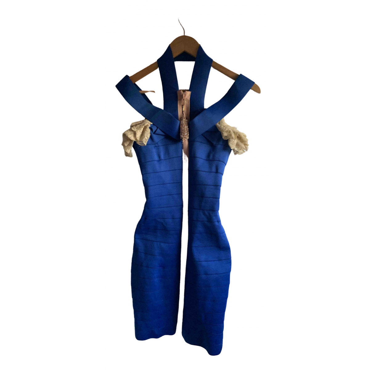 Christopher Kane \N Blue Cotton - elasthane dress for Women XS International