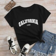Letter Graphic Short Sleeve Tee
