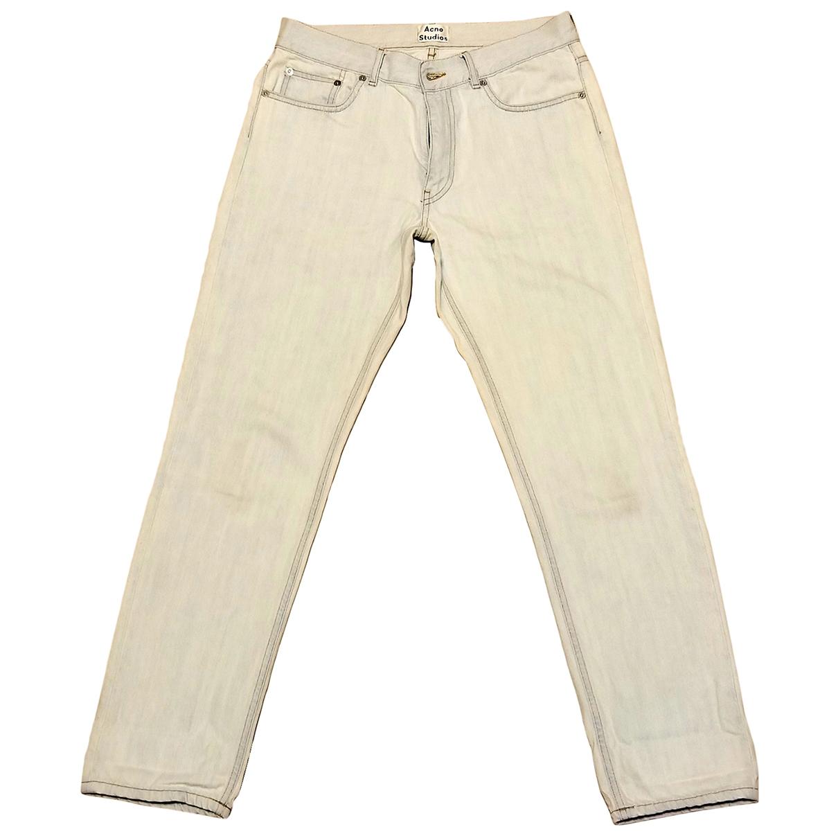 Acne Studios \N Blue Denim - Jeans Jeans for Women 32 FR