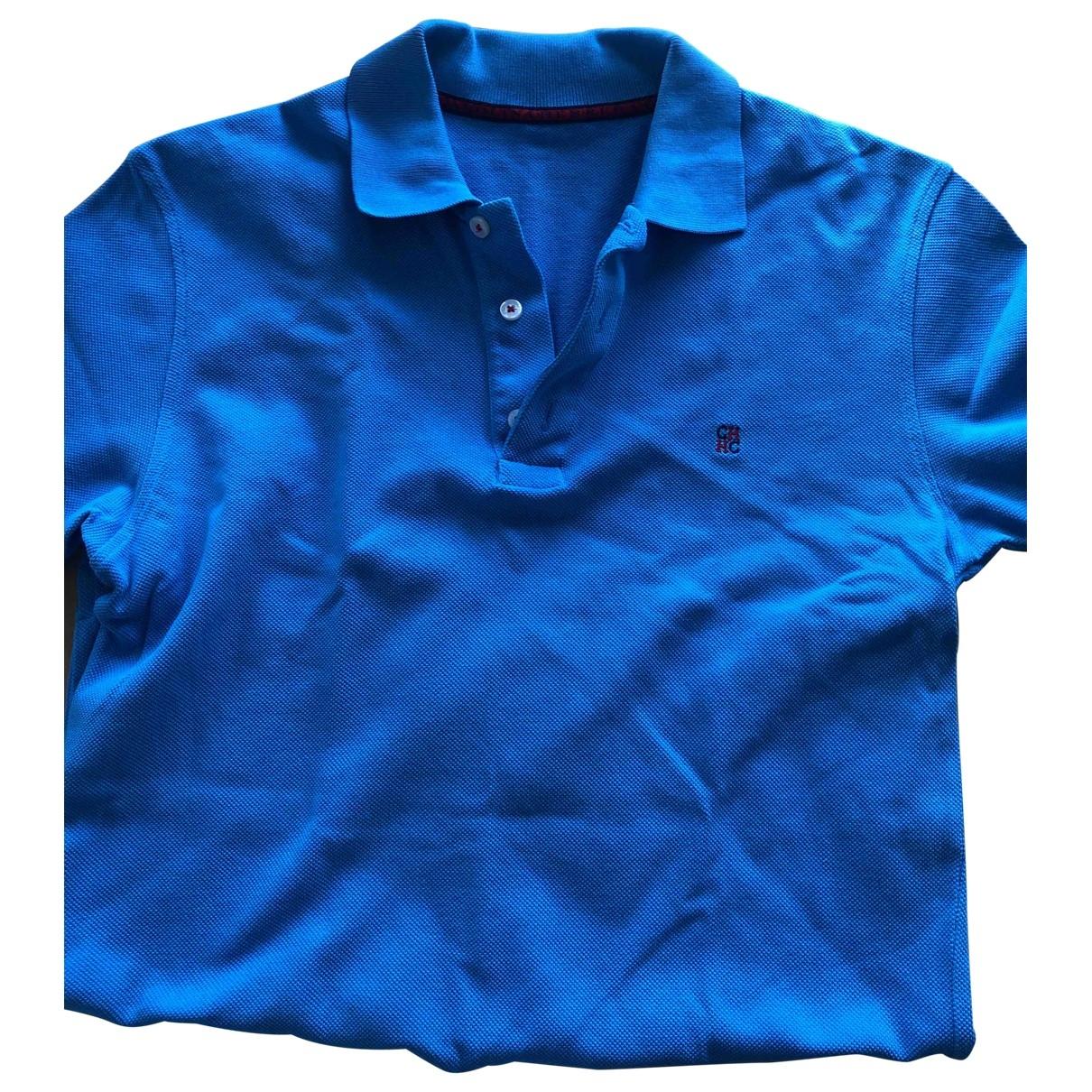 Carolina Herrera - Polos   pour homme en coton - bleu