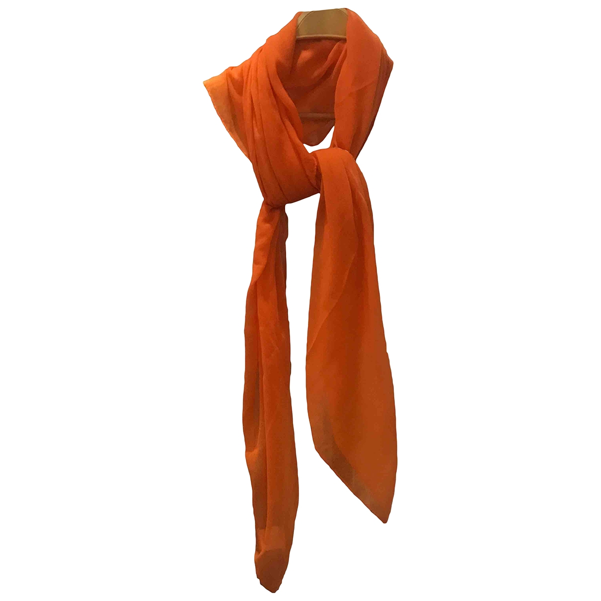 Non Signé / Unsigned \N Orange scarf for Women \N