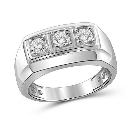 Mens 1 CT. T.W. Genuine White Diamond 10K Gold Fashion Ring, 11 , No Color Family