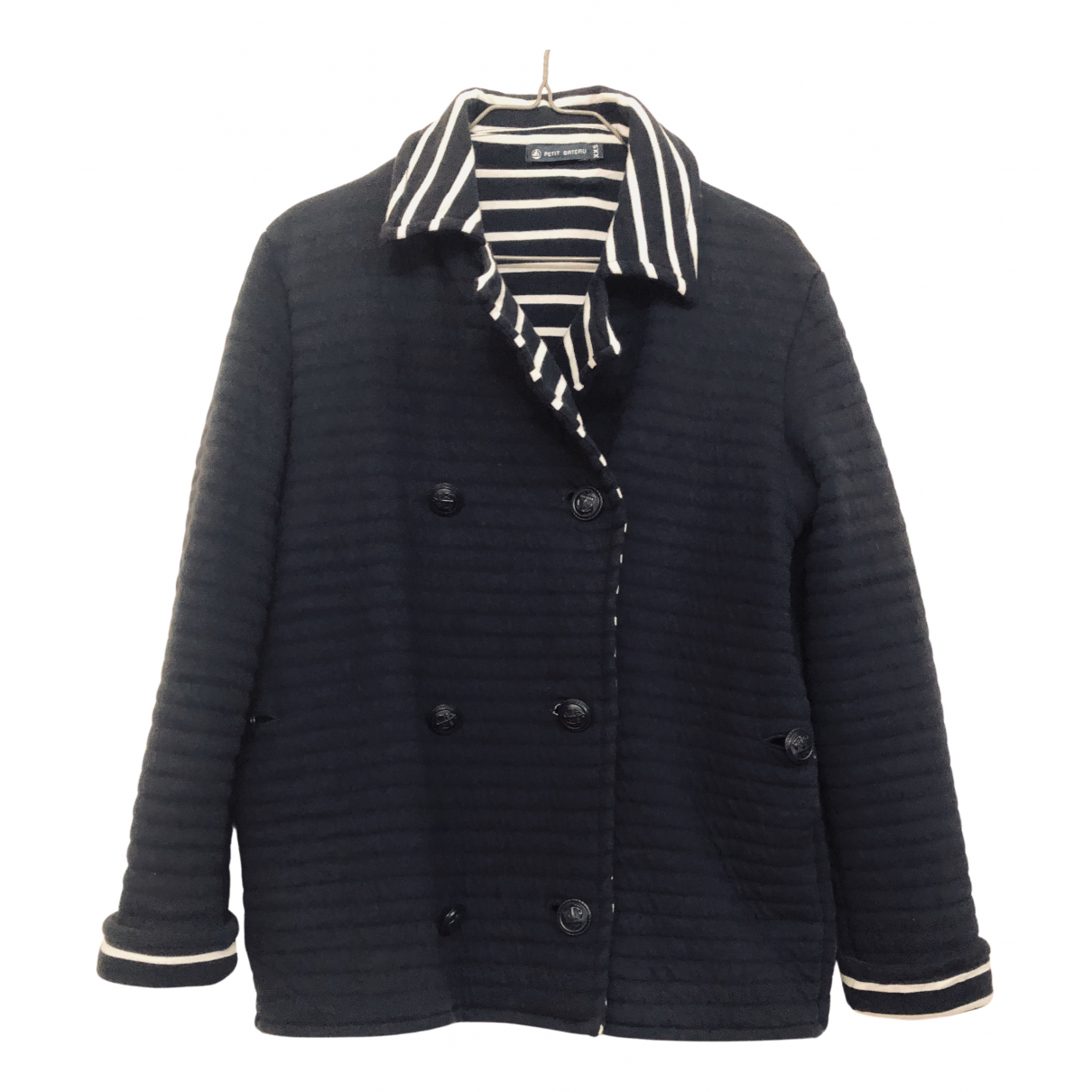 Petit Bateau N Navy Cotton jacket for Women 36 FR