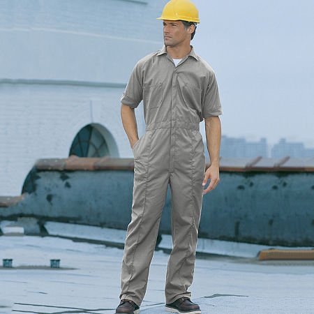 Sweet Company Short Sleeve Workwear Coveralls-Big and Tall, 56 , Gray