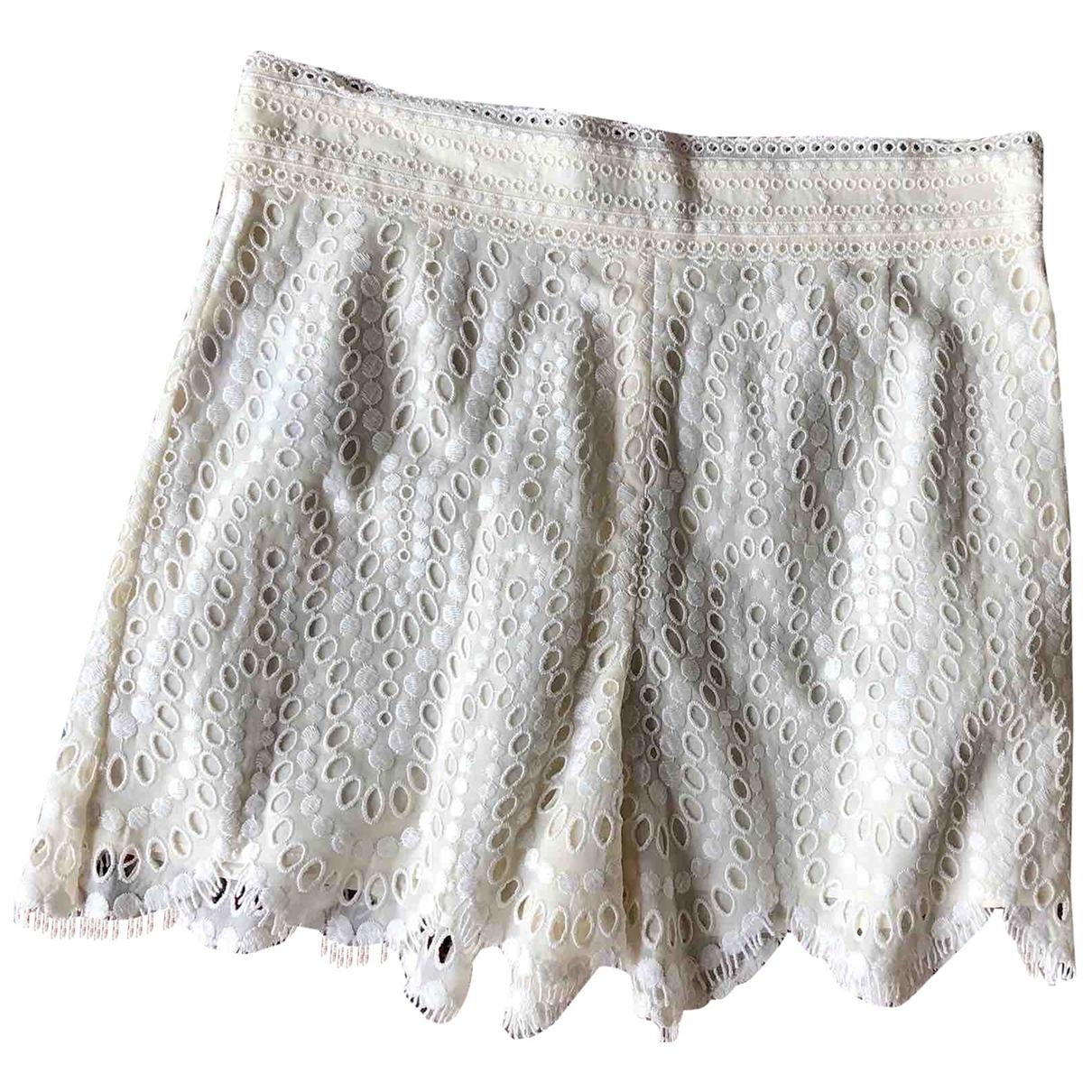 Valentino Garavani - Short   pour femme en coton - blanc