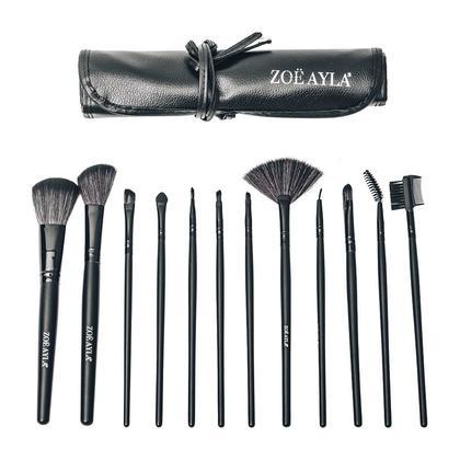 Zoë Ayla 12 Piece Professional Make-Up Brush Set with Travel Case