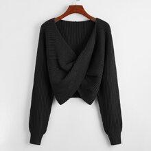 Crop Pullover mit Twist vorn