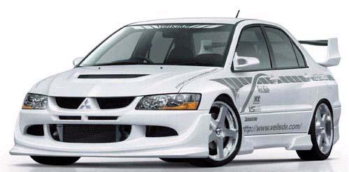 VeilSide 2003-2005 Mitsubishi Lancer EVO VIII CT9A Ver. I Model Front Half Spoiler (FRP)