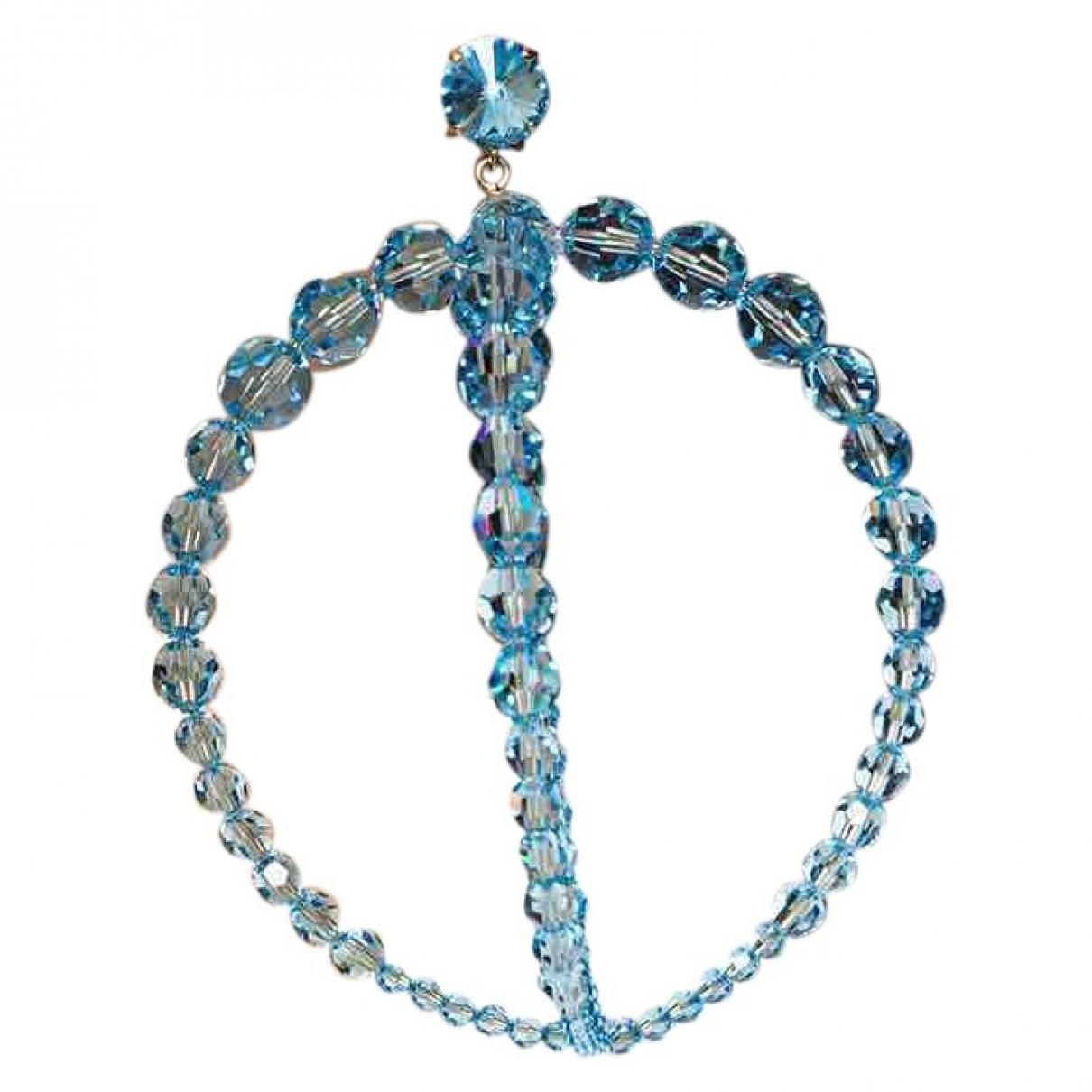 Jacquemus - Boucles doreilles La Riviera pour femme en verre - turquoise