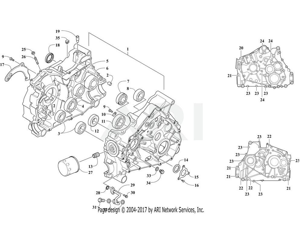 Arctic Cat OEM 3313-910 Crankcase Assembly | (Inc. 2 22)