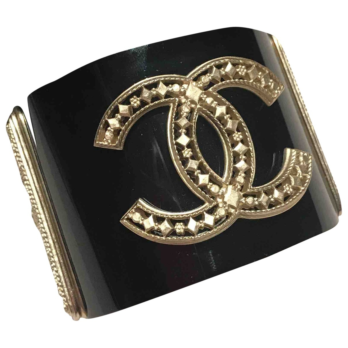 Chanel CC Armband in  Schwarz Metall