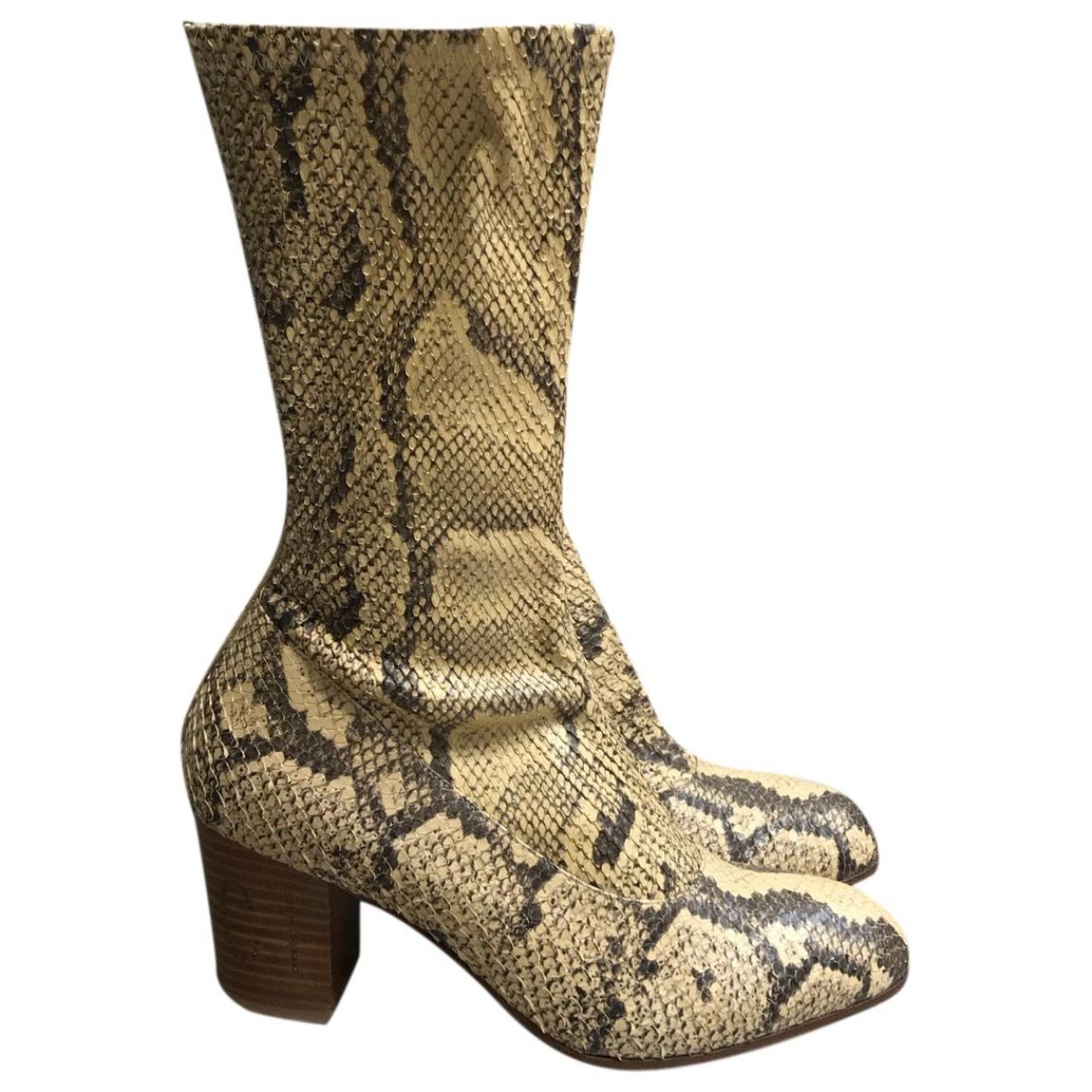 Gucci - Bottes   pour femme en python - beige