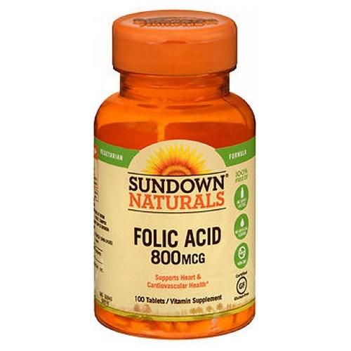 Sundown Naturals Folic Acid 100 tabs by Sundown Naturals