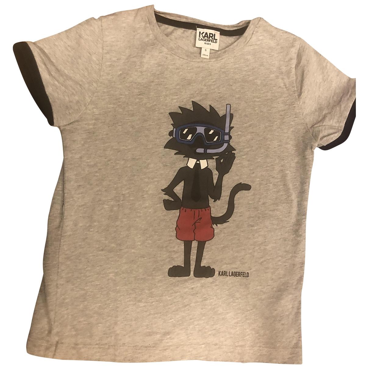 Karl Lagerfeld \N Grey Cotton T-shirts for Men S International