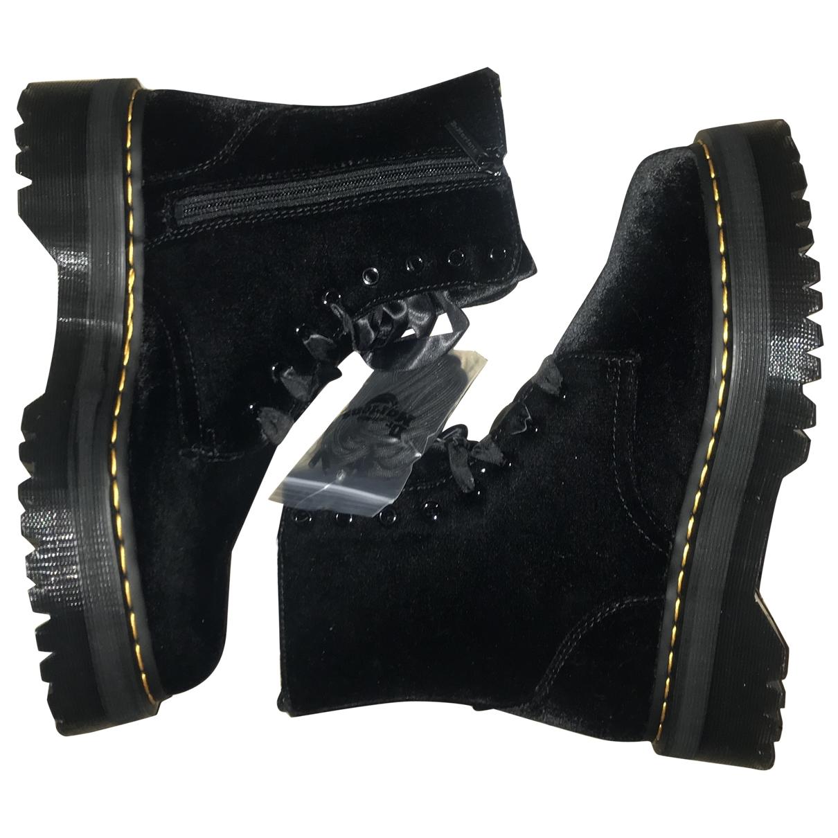 Dr. Martens - Boots   pour femme en velours - noir