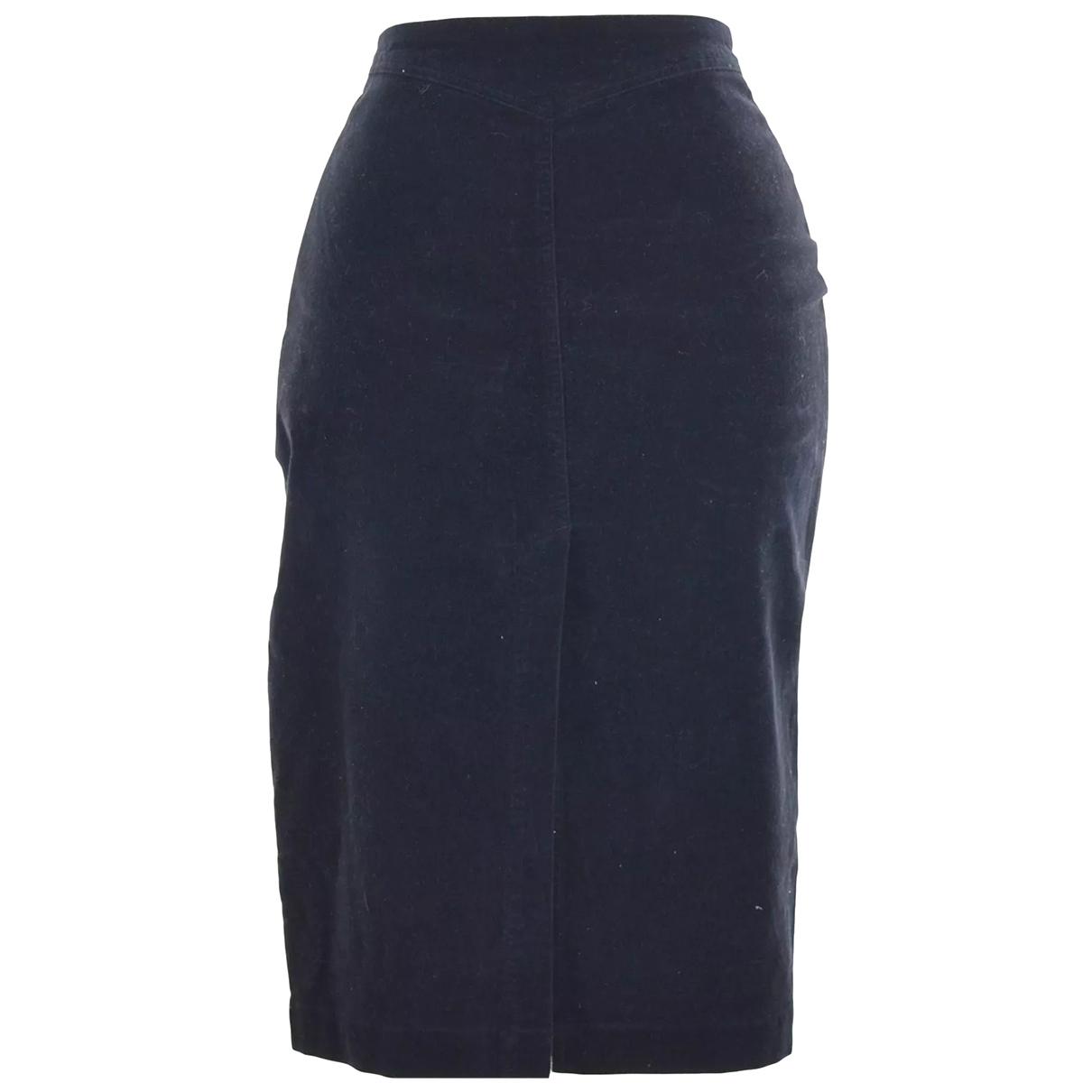 Armani Jeans \N Black Cotton - elasthane skirt for Women 44 IT
