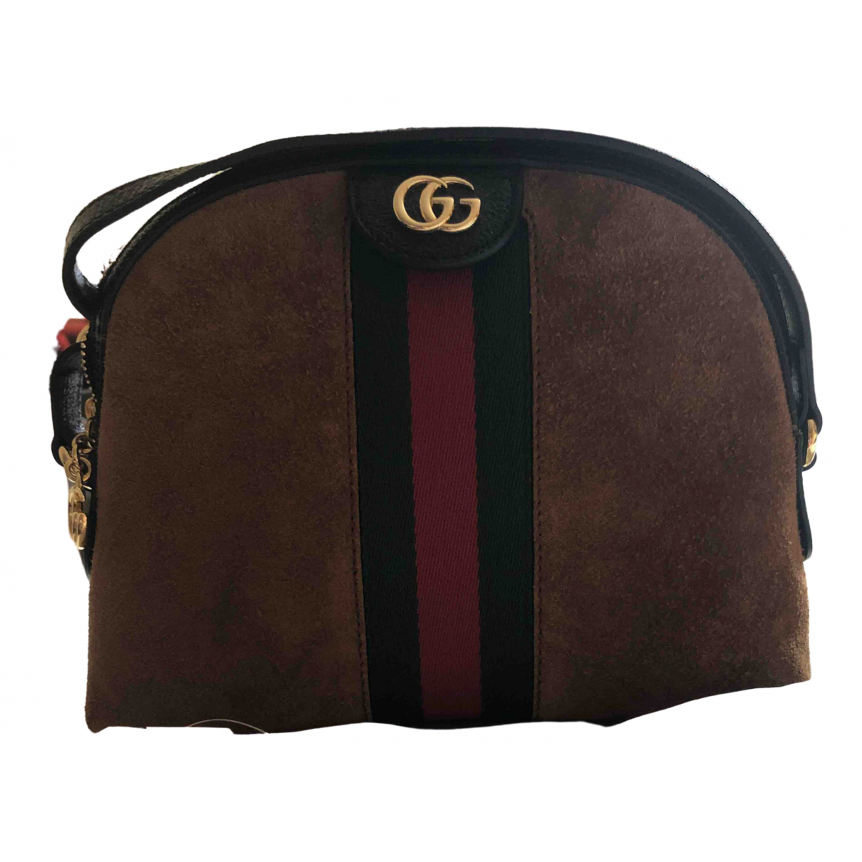 Gucci Ophidia Brown Suede handbag for Women \N