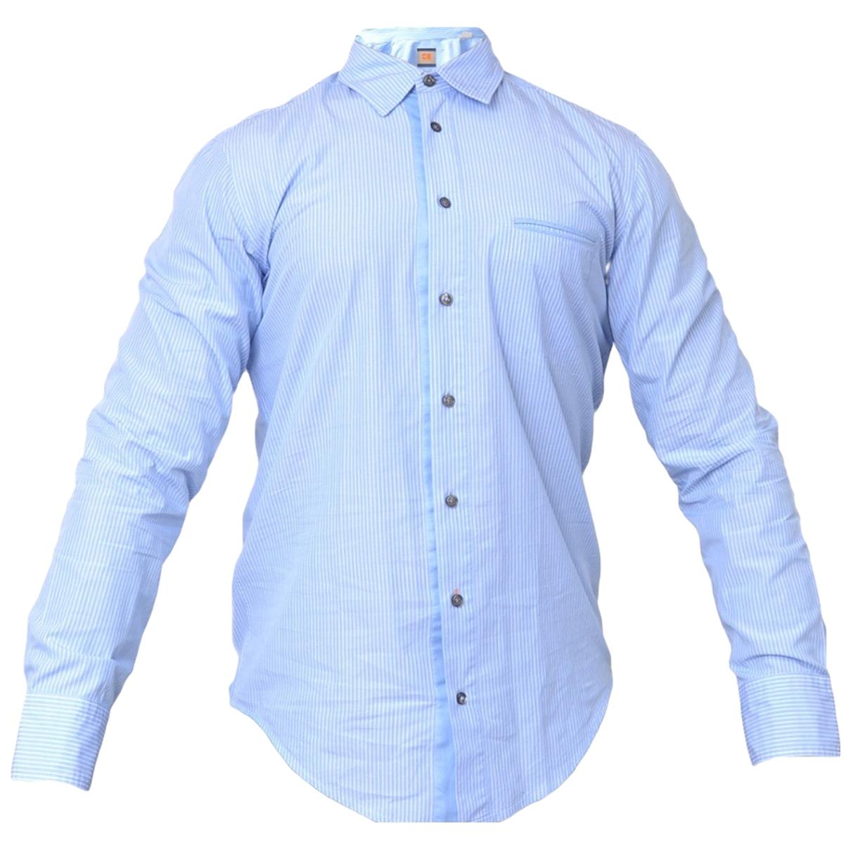 Hugo Boss \N Blue Cotton Shirts for Men L International
