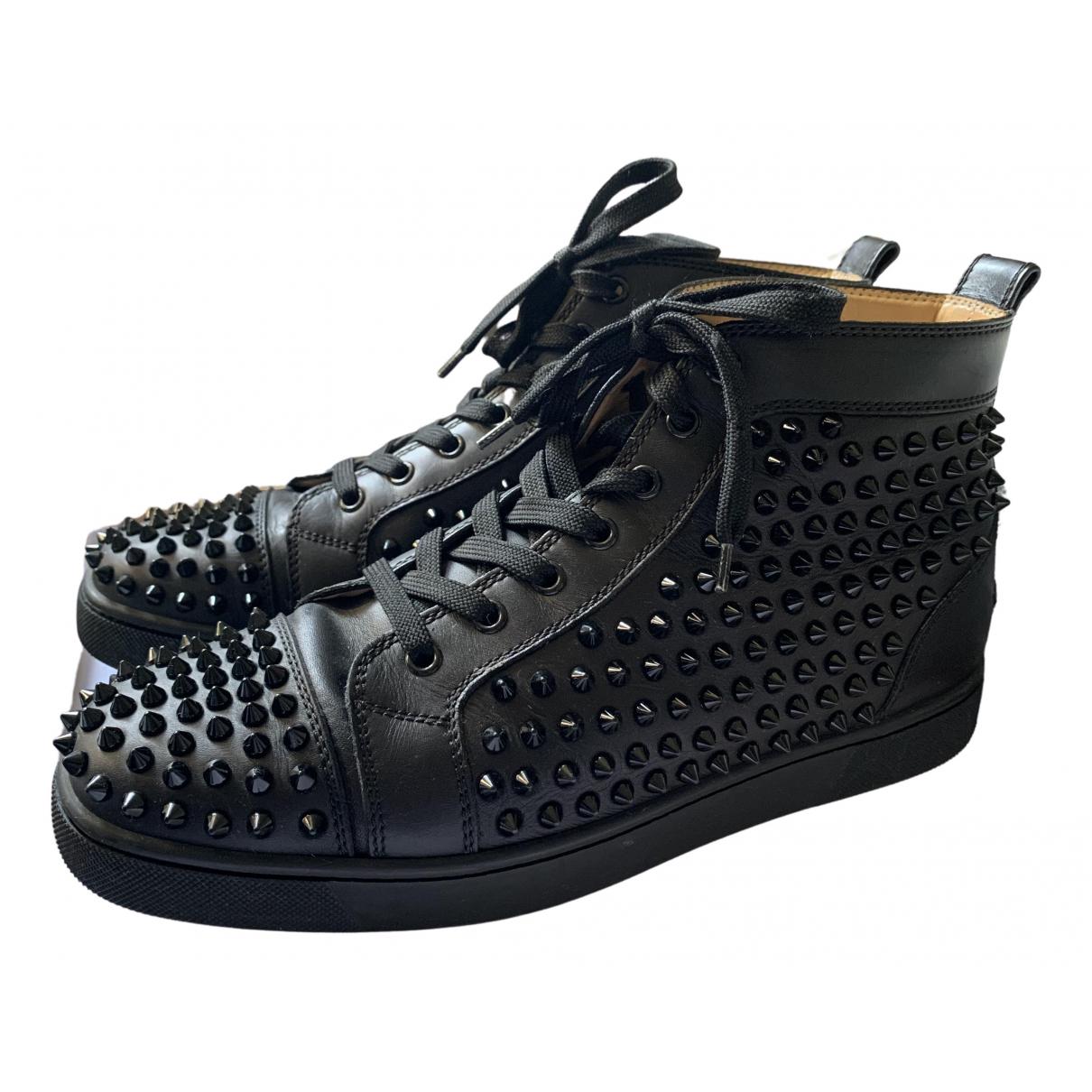 Christian Louboutin Louis Sneakers in  Schwarz Leder