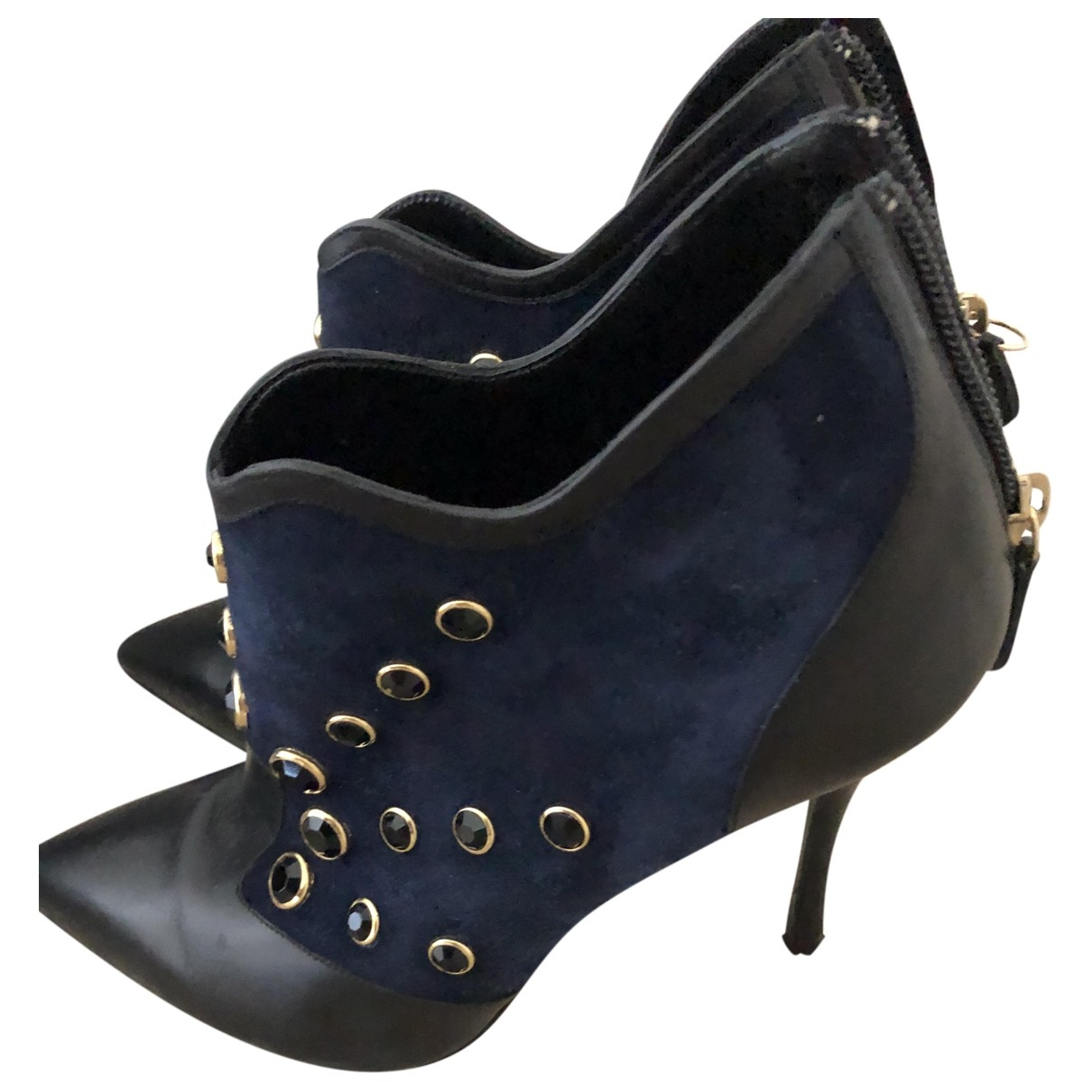 Nicholas Kirkwood \N Blue Suede Ankle boots for Women 37 EU