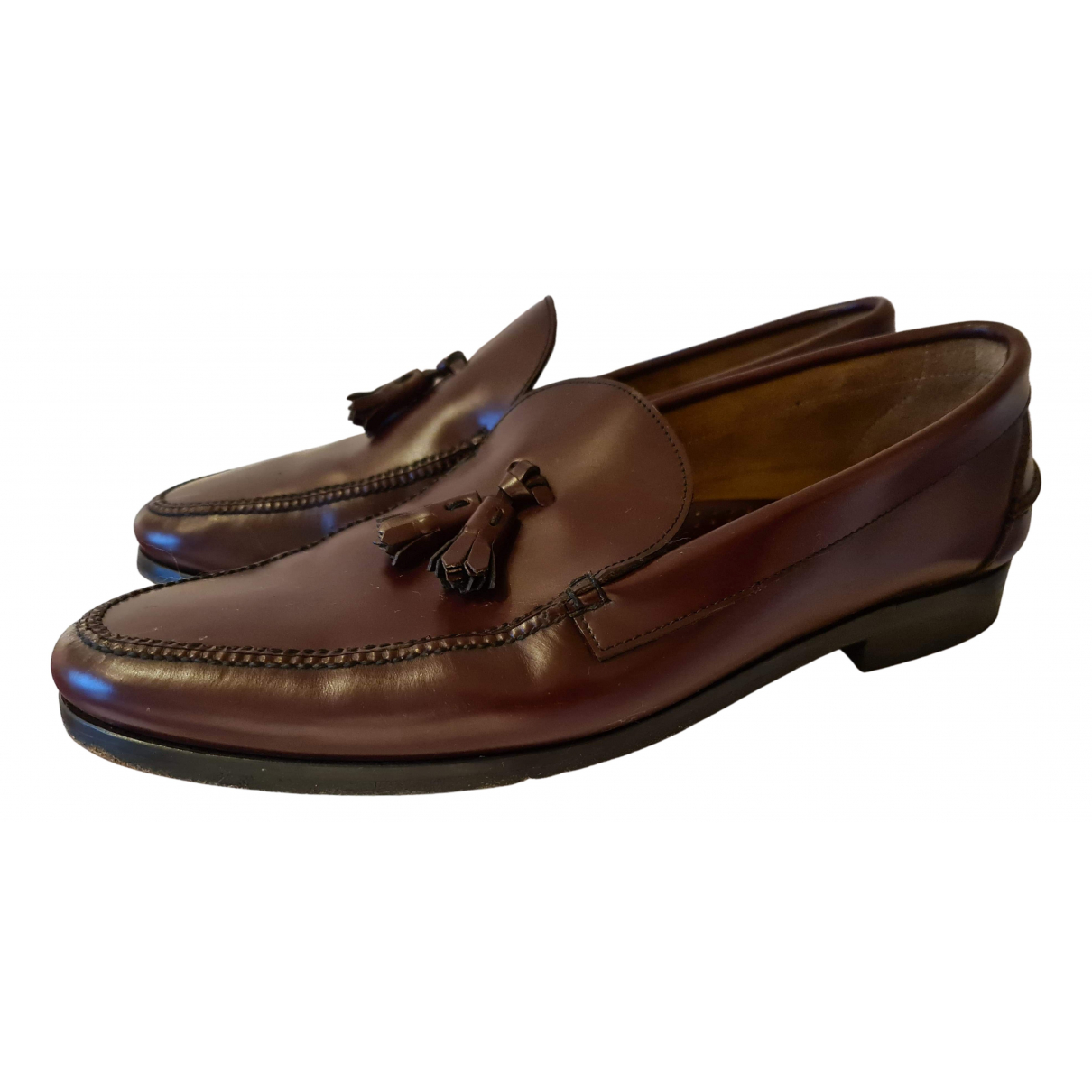 Prada N Brown Leather Flats for Men 43 EU