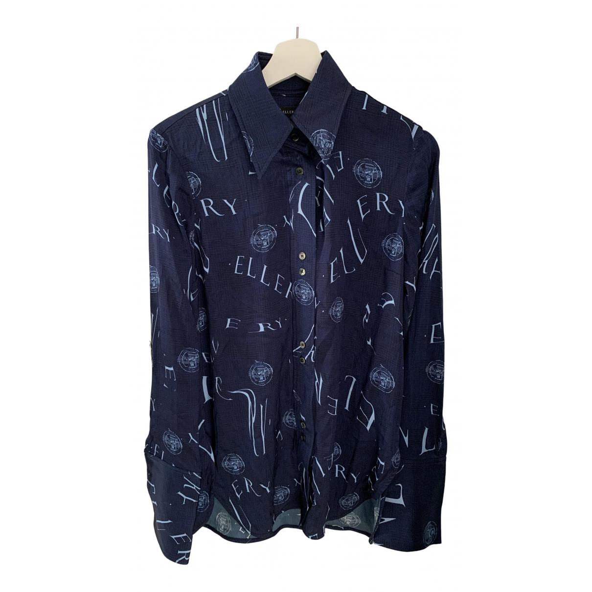 Ellery - Top   pour femme en soie - bleu