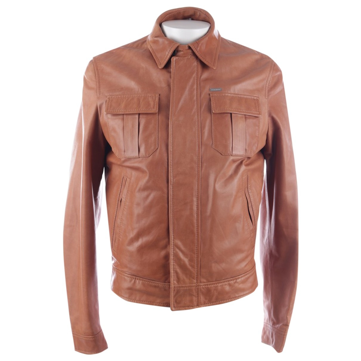 Dsquared2 \N Brown Leather jacket for Women 48 FR