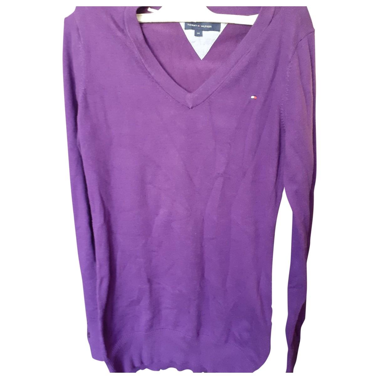 Tommy Hilfiger - Pull   pour enfant en coton - violet