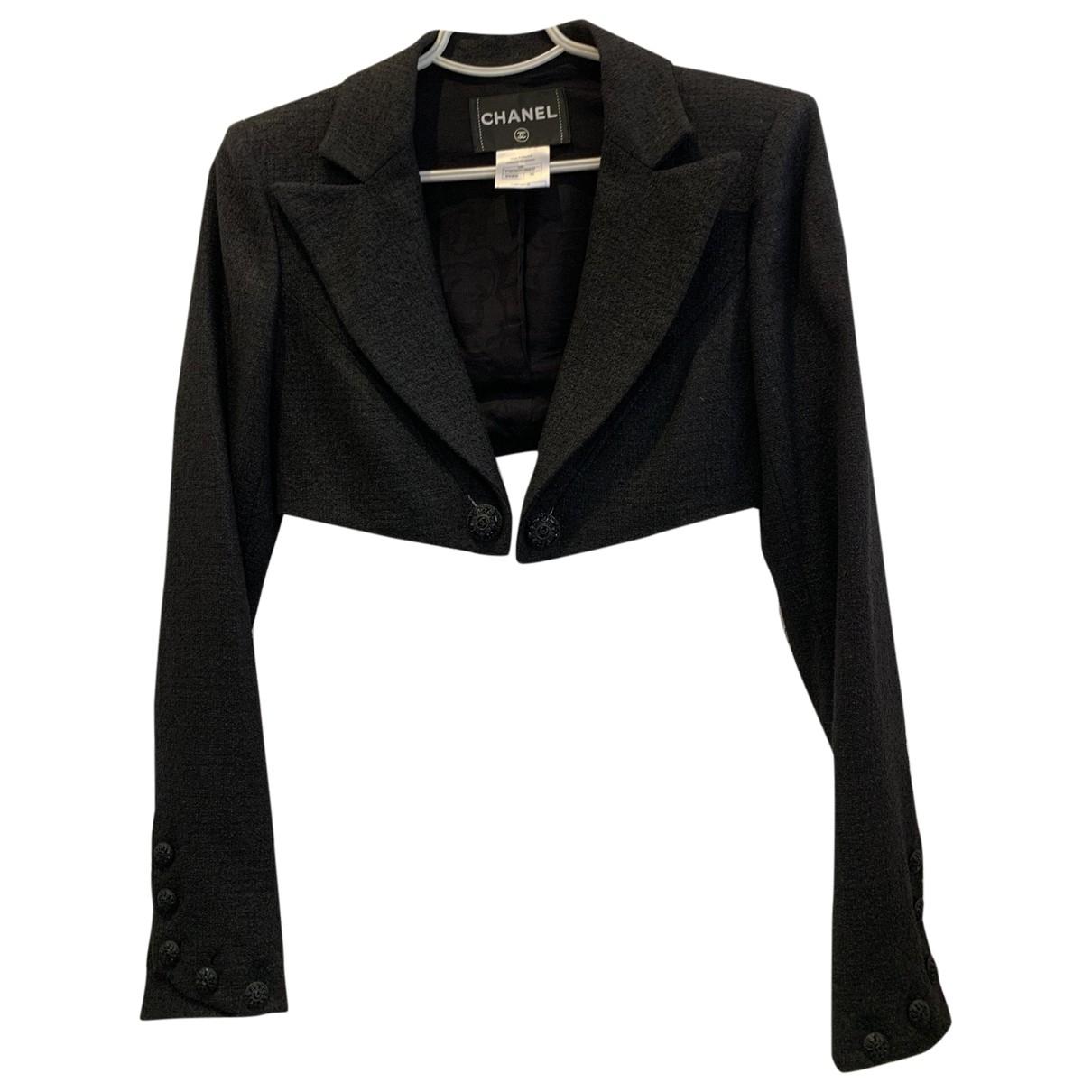 Chanel \N Black Linen jacket for Women 36 FR